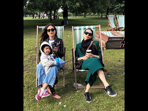 Meanwhile, Have You Seen This Picture Chilling With His Mom Kareena & Karisma?