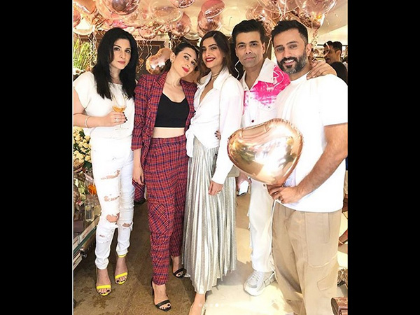 The Birthday Girl Sonam Poses With Her Squad