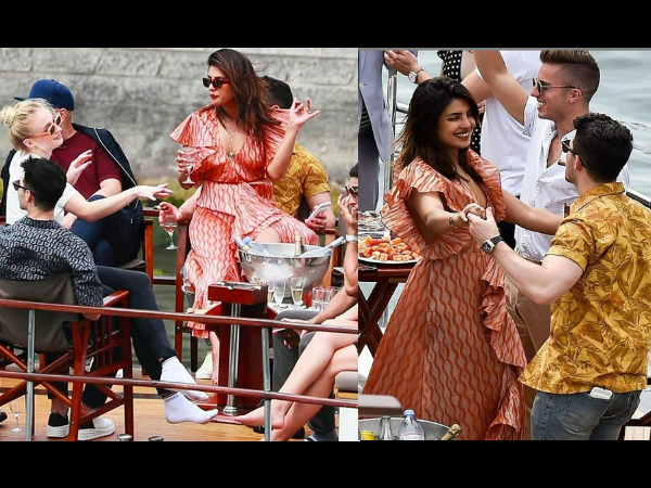 Priyanka Chopra- Nick Jonas Chill On A Boat With Sophie Turner & Joe Jonas In Paris; See Pics!
