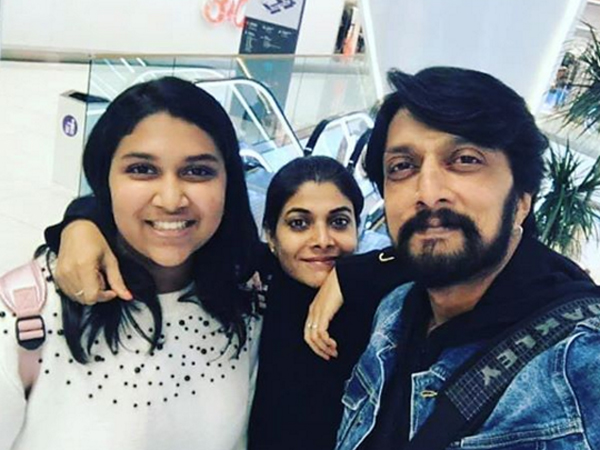 Sudeep's Family Holiday PICS LEAKED! Pailwaan Star Is In London For World Cup 2019