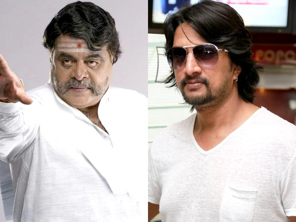 Sudeep Says Ambareesh Felt Guilty When Shoot Got Cancelled Cause' Of His Health; Pushed Himself Hard