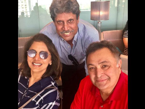 After Aishwarya Rai & Abhishek, Kapil Dev Drops By To Meet & Greet Rishi Kapoor In New York City!