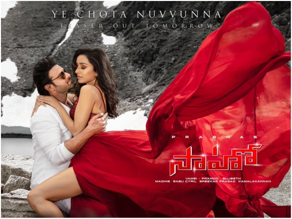 Saaho Second Song Teaser Out; Tollywood Lovers Unhappy For A Reason?