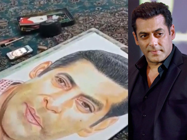 Salman Khan Shares Video Of Specially-abled Fan Sketching His Portrait With Her Feet!