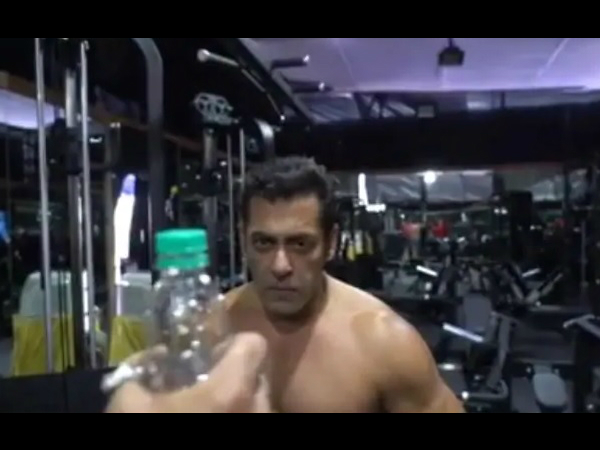 VIRAL! Salman Khan's Bottle Cap Challenge Comes With A Twist; See Video Here