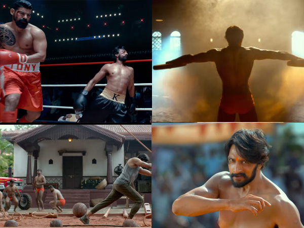 Astonishing Shots Of Sudeep's From Pailwaan Trailer Speak Volumes Of His Hard Work!