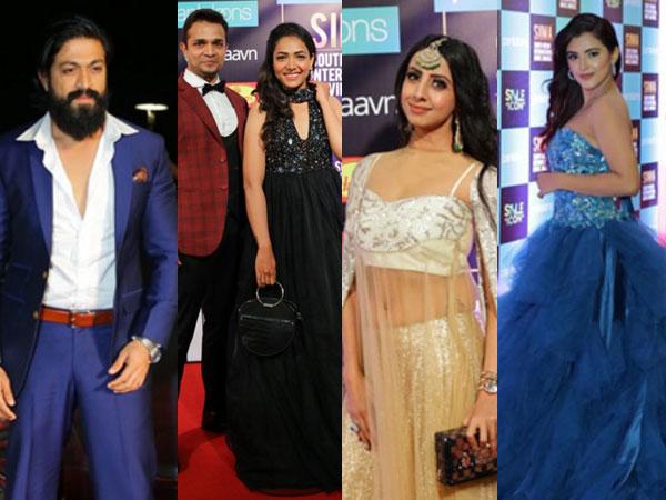 Yash, Rachita Ram, Vijay Raghavendra & Other Sandalwood Stars At SIIMA 2019!