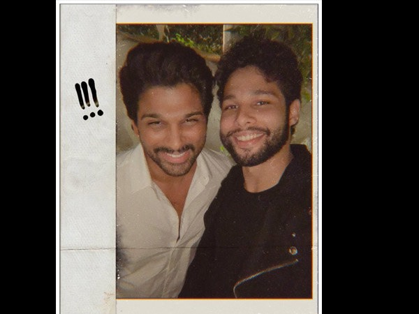 'Gully Boy' Actor Siddhant Chaturvedi Shares A Fanboy Moment After Meeting Superstar Allu Arjun!