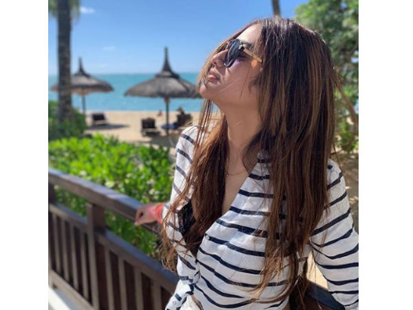 Nusrat Jahan Soaks Up The Sun On A Honeymoon By The Sea!