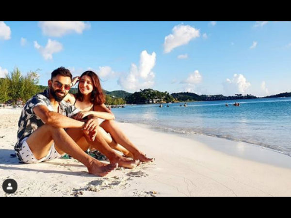 Anushka & Virat Look Blissed Out On A Beach