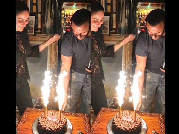 Inside Saif Ali Khan's Birthday Celebrations: Kareena Is All Smiles As Hubby Cuts Birthday Cake