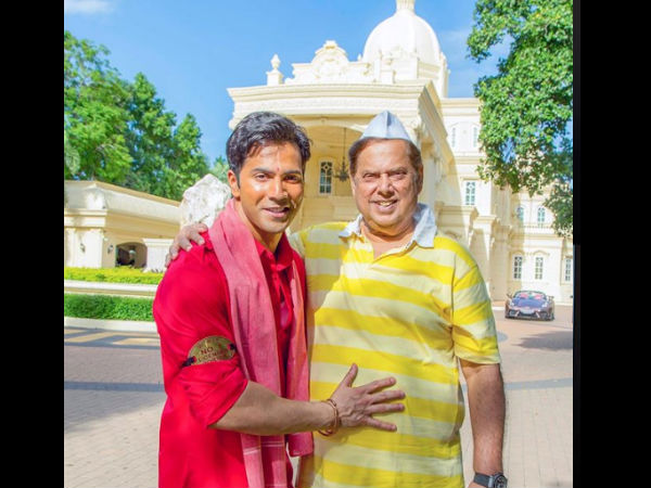 Varun Dhawan Wishes Dad David Dhawan Happy Birthday, Shares Picture From Coolie No.1 Sets!