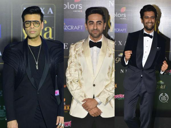 IIFA 2019 Green Carpet: KJo, Ayushmann Khurrana & Vicky Kaushal Look Savvy In Black