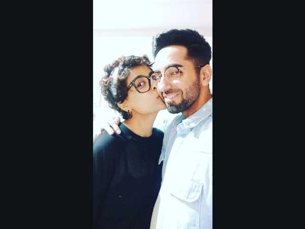 Birthday Boy Ayushmann Khurrana Gets A Peck On His Cheek From Wife Tahira Kashyap!