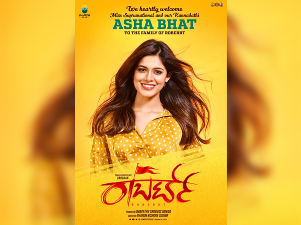 Darshan's Film Robert Finalises Its Heroine; Asha Bhat To Play The Female Lead!