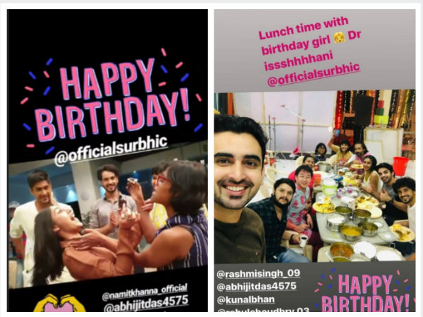 The Actress Celebrates Birthday With Sanjivani Team