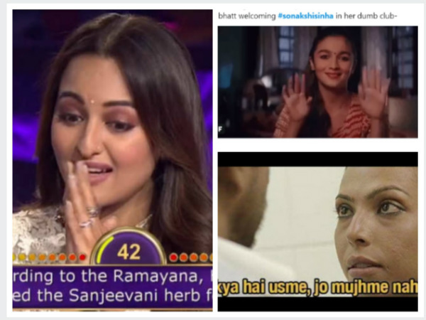 Sonakshi Sinha Trolled After Failing To Answer A Question On KBC 11; #YoSonakshiSoDumb Trends