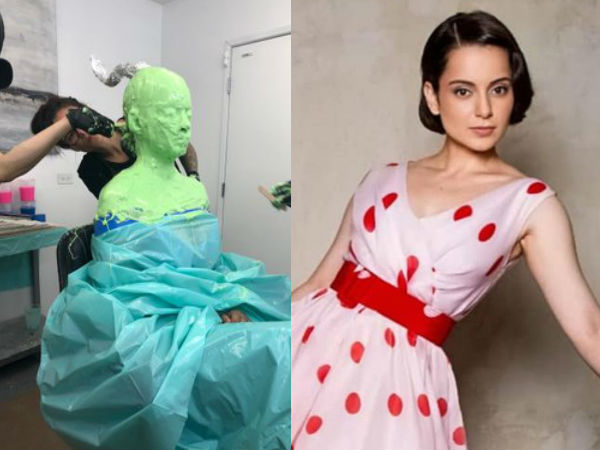 PIC: Kangana Ranaut Sits Through Painful Session Of Prosthetics Measurement For Biopic Thalaivi
