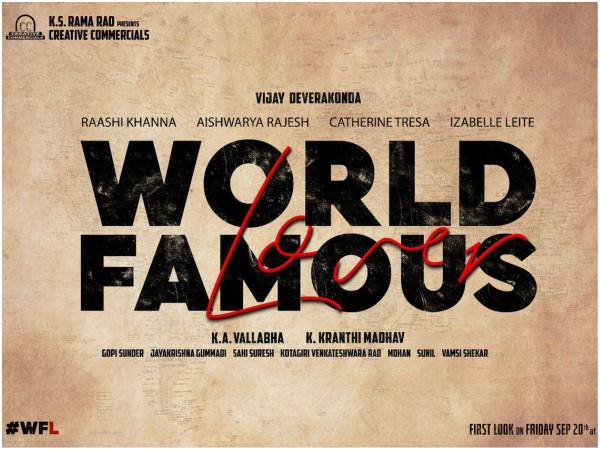World Famous Lover Is The Title Of Vijay Deverakonda's Next!