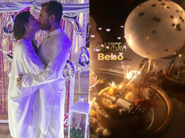 Happy Birthday Kareena Kapoor Khan: Actress Shares A Kiss With Saif To Begin The Celebrations!
