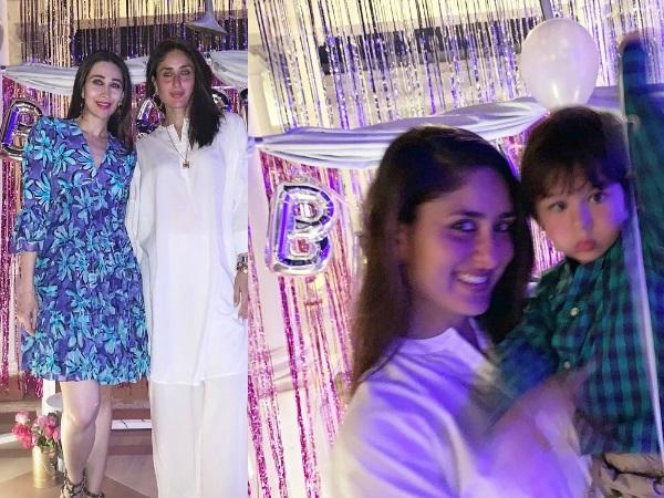 Inside Kareena Kapoor Khan's Birthday Bash: Taimur Looks Super Cute; Bebo-Karisma Drop Sibling Goals