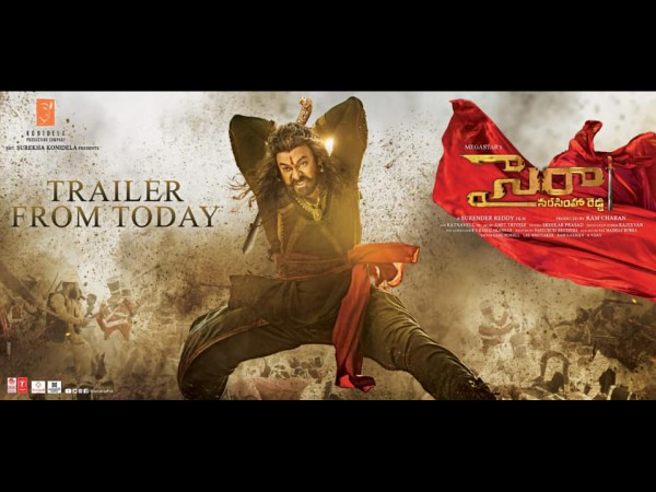Sye Raa Trailer To Release At 5:31 PM On Konidela Production Company YouTube Channel!
