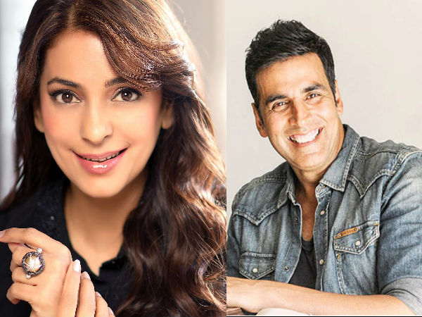 Akshay Kumar Thanks Juhi Chawla For 'The Best Birthday Gift'