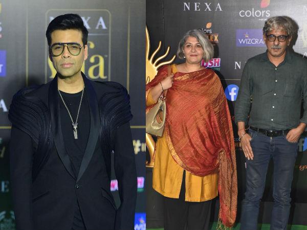 IIFA 2019 Green Carpet: Filmmakers Karan Johar & Sriram Raghavan Arrive