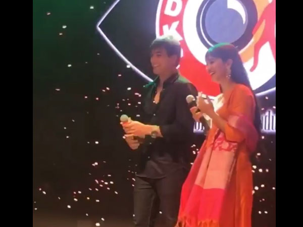 Shivangi & Mohsin On The Stage