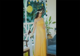Radhika Pandit Greek Goddess Look From Recent Baby Shower All Set To Welcome Her Second Child