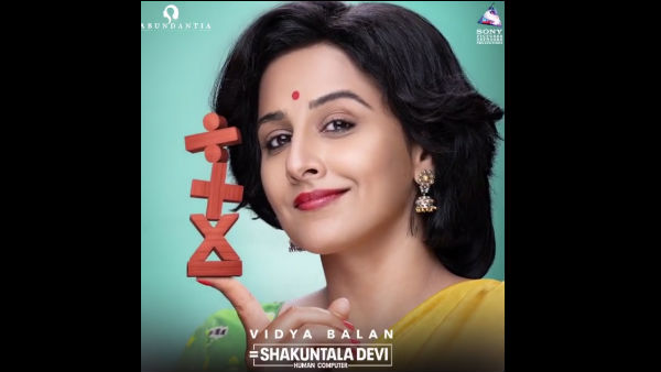 Vidya Balan Shares Motion Poster Of Shakuntala Devi Biopic!
