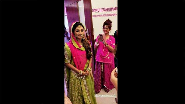Yeh Rishta Kya Kehlata Hai's Mohena Singh Looks Every Bit Royal At Her Mehendi & Sangeet (PICS)