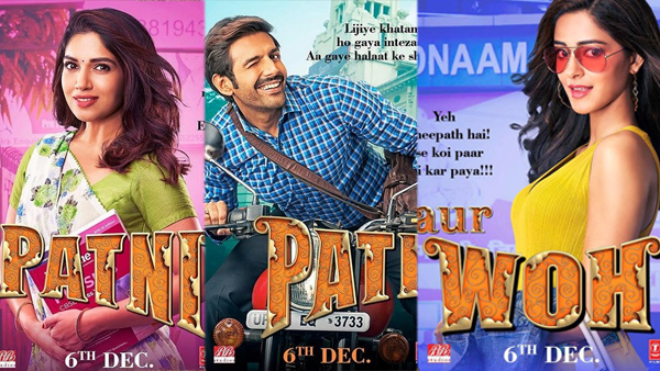 First Look Posters Of Pati Patni Aur Woh Out!