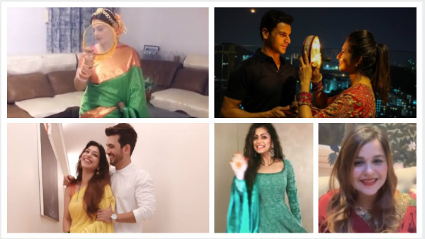TV Celebs Share Adorable Pictures From Karwa Chauth