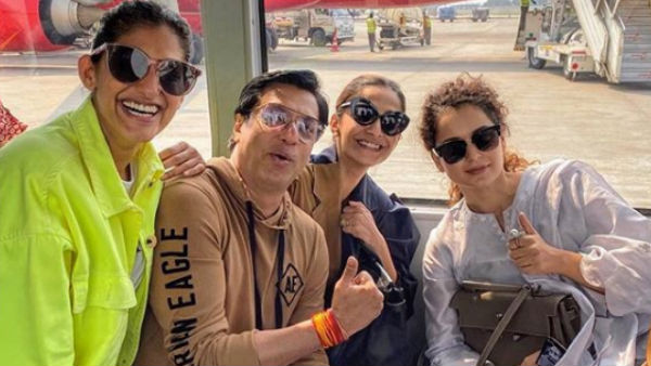 Kangana-Sonam Put Their Differences Aside & Pose For A Pic!