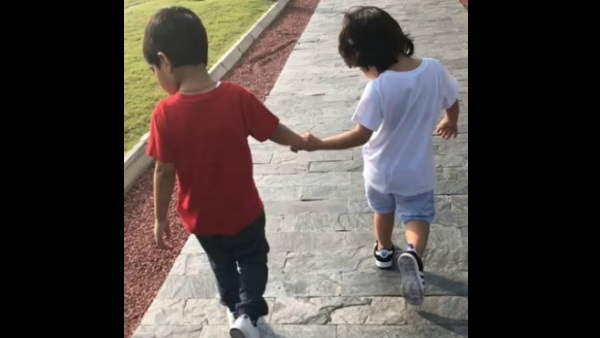 Video: Taimur Enjoying Morning Stroll With A Friend Is All Things Cute!
