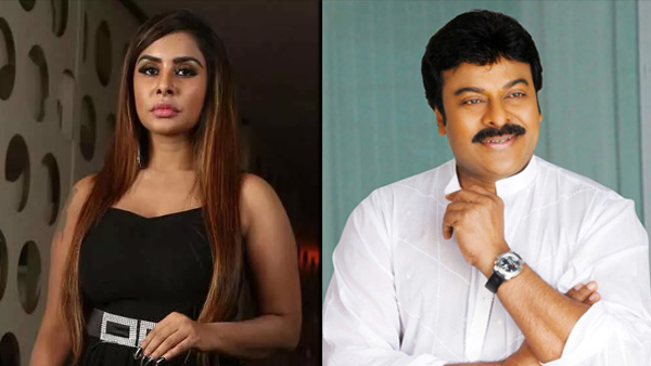 Sri Reddy Claims Chiranjeevi Supported Tamanna For A Reason!