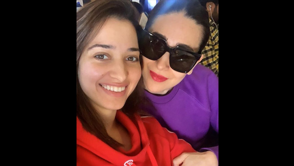 Tamannaah's Fan Moment With Karisma Kapoor On Air!