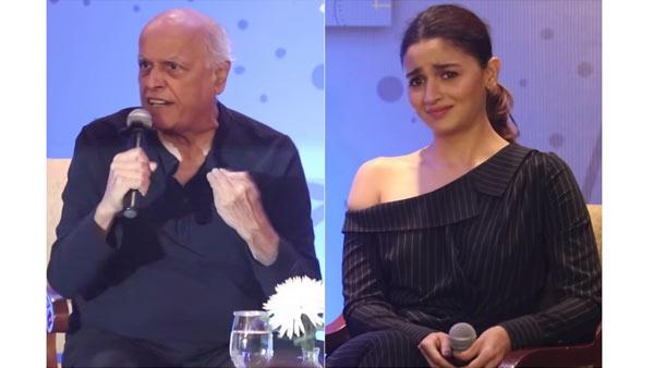 Alia Bhatt Gets Uncomfortable As Father Mahesh Bhatt Loses His Temper In Shaheen Bhatt's Book Launch
