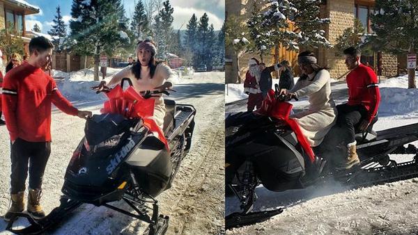 Priyanka Chopra Receives 'Batmobile' As Christmas Gift From Nick Jonas; Couple Goes For A Ride
