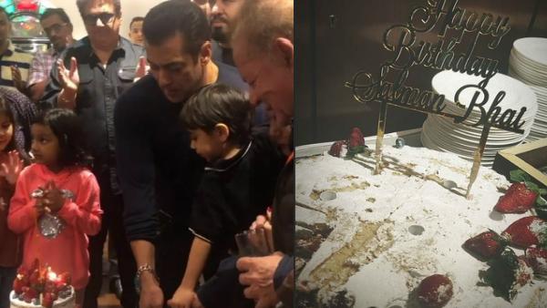 Salman Khan's Birthday Celebrations: Superstar Cuts Cake In Presence Of His Near & Dear Ones!