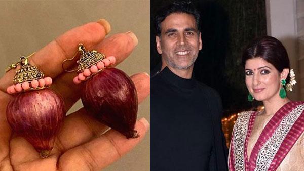 Akshay Kumar Gifts Wife Twinkle Khanna 'Onion Earrings'; Netizens Just Can't Keep Calm