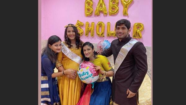 Khatron Ke Khiladi's Geeta Phogat's Family Surprise Her With Baby Shower At Babita's Reception