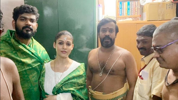 Nayanthara And Vignesh Shivn Offer Prayers At Bagavathi Amman And Madurai Temples; Pictures Go Viral