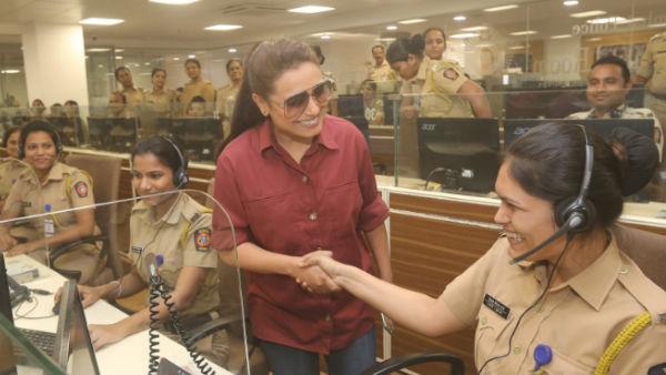 Mardaani 2: Rani Mukerji Visits Police Control Room In Mumbai, Celebrates Police Force
