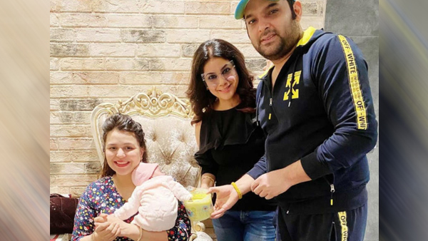 Kapil Sharma And Ginni Chatrath Get Daughter Anayra's Hands And Feet Clay Impressions Cast