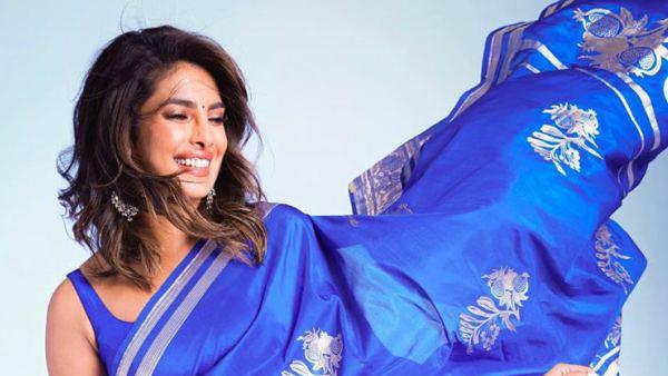 Umang 2020: Priyanka Chopra Brings Back Desi Girl In Blue Saree