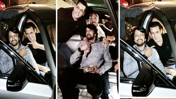 Salman Khan Gifts A BMW M5 To Kichcha Sudeep And Left The Latter All Astonished [See Pictures]
