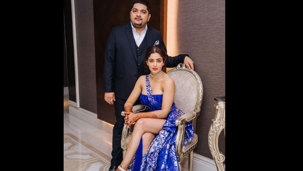 Neha Pendse Stuns In A Thigh-High Slit Gown At Her Reception
