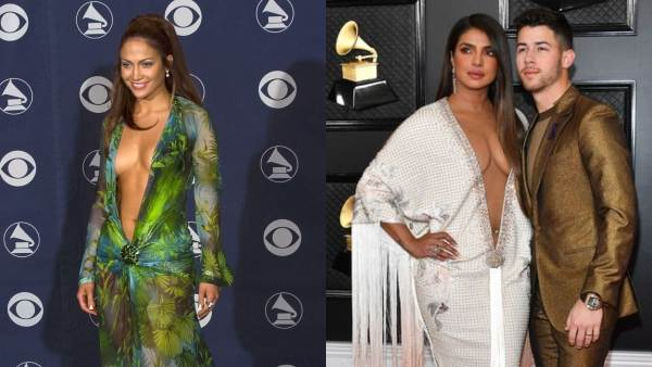 Priyanka Chopra Copied Jennifer Lopez's Iconic Grammy Outfit